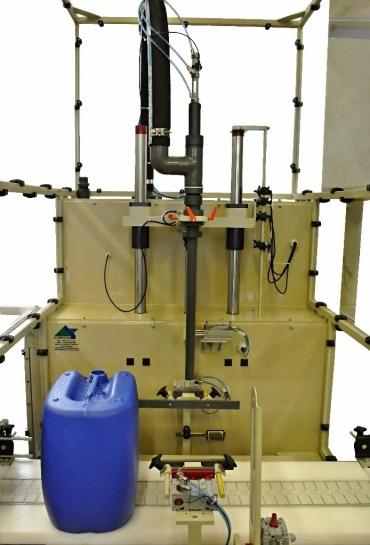 vegyszer folyadéktöltő gép